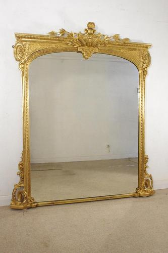 19th Century Gilt Overmantle Mirror (1 of 12)