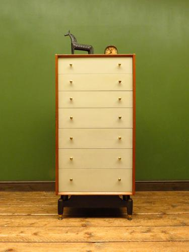 Mid Century Retro G-plan E Gomme China White Chest Of Drawers original condition (1 of 18)
