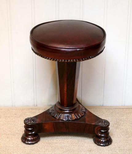 William IV Rosewood Piano Stool (1 of 9)
