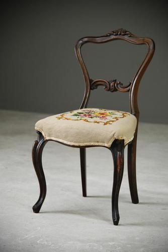 Single Antique Dining Chair (1 of 12)