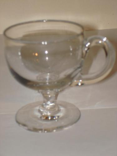 19th Century Plain Glass Custard Cup (1 of 1)