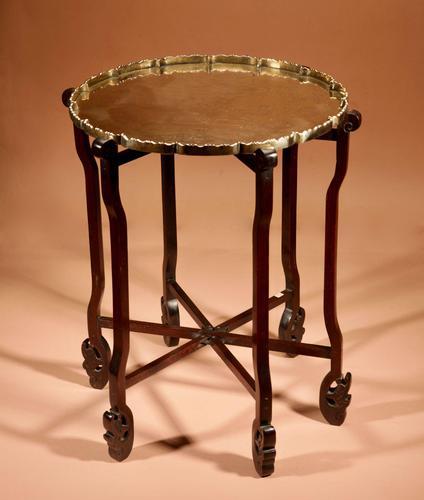 Elegant Chinese Harwood Folding Table c.1900 (1 of 10)