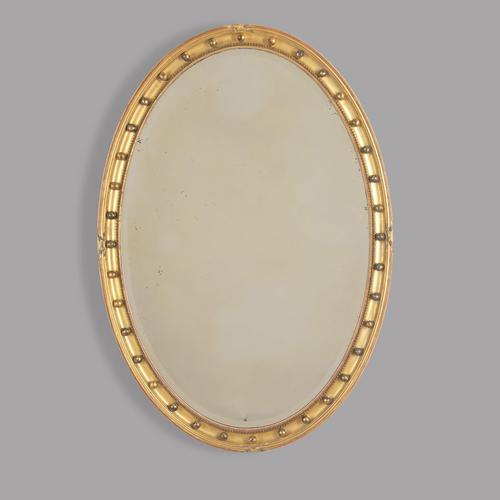 English 19th Century Oval Mirror (1 of 3)