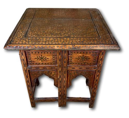 19th Century Brass Inlaid Hoshiarpur Table (1 of 7)