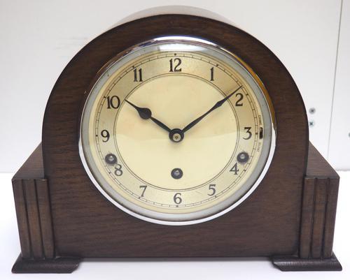 Fine Garrard Art Deco Mantel Clock 8 Day Westminster Chime Mantle Clock (1 of 11)