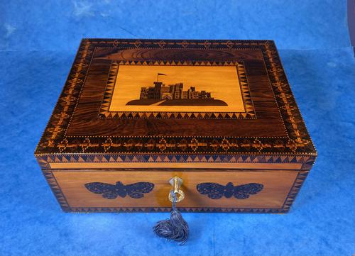 William IV Early Mosaic Tunbridge Ware Table Box (1 of 20)