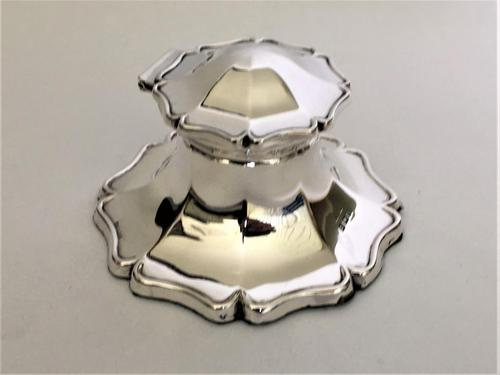Handsome George V Silver Inkwell (1 of 8)