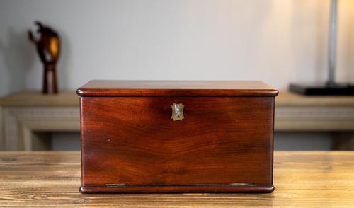 Solid Mahogany Drop Front Georgian Box 1800 (1 of 9)