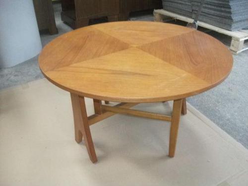 Tilt Top Teak Folding Coffee Table (1 of 3)