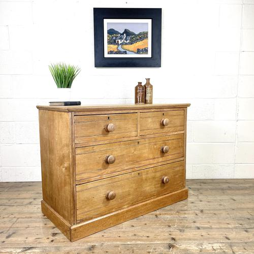 Antique Pale Oak Chest of Drawers (1 of 10)