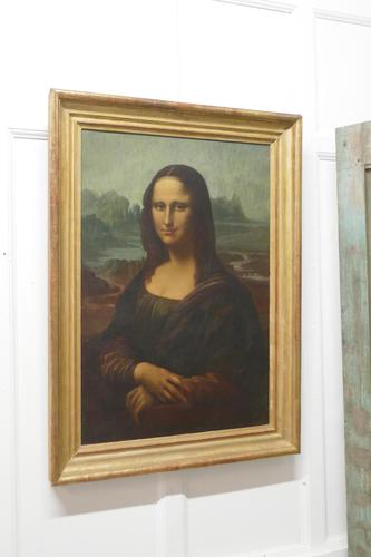 Large 19th Century Unsigned French Oil Painting, Study of an Italian Lady (1 of 16)