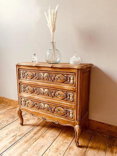 French Antique Style Small Chest of Drawers (1 of 4)