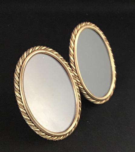 Victorian Brass Oval  Double Easel Photo Frame. (1 of 4)