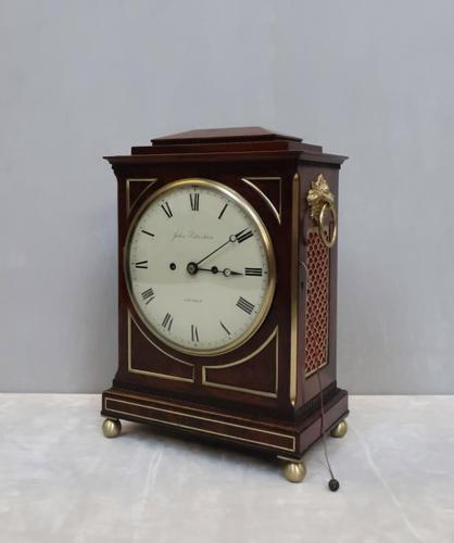 William IV Mahogany Bracket Clock by John Peterkin (1 of 7)