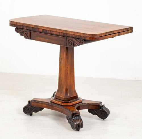 Rosewood William IV Card Table (1 of 8)