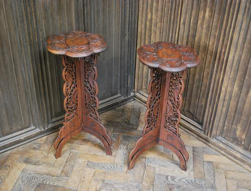 Decorative Pair of Indian Table Stands (1 of 6)