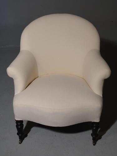 Late 19th Century Scrolled Arm Tub Chair (1 of 4)