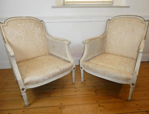 Pair of 19th Century Bergere / Cane Arnchairs (1 of 6)