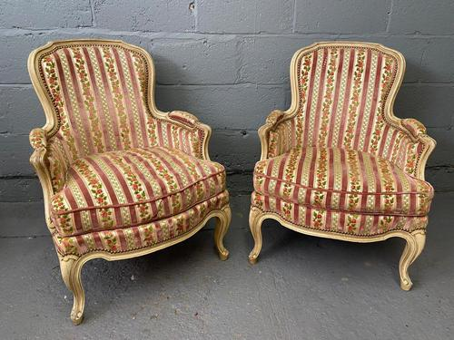 Lovely Pair of French Bergere Chairs (1 of 4)