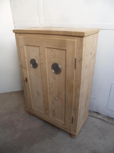 A Great Victorian 1 Door Antique/Old Pine Kitchen/Storage Cupboard to Wax/Paint (1 of 9)