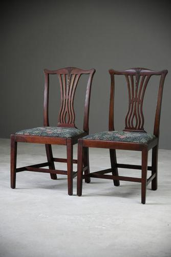 Pair of Antique Chippendale Style Dining Chairs (1 of 12)