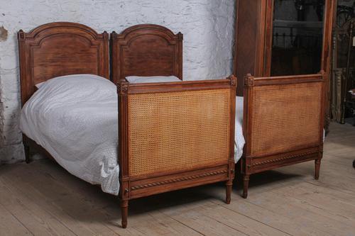 Fabulous Pair of Single Henri II Style Cane & Wood Single Beds (1 of 11)