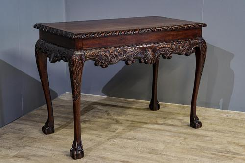 Carved Mahogany Side Table (1 of 7)