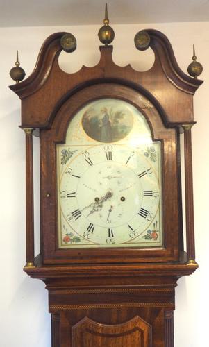 Fine English Longcase Clock Prince Hunslett 8-day Striking Grandfather Clock Solid Mahogany & Oak Case (1 of 14)