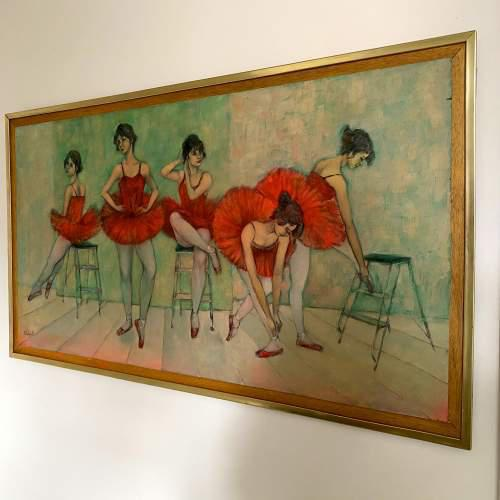 Large Oil on Board Painting by Martin Wieland 1981 (1 of 6)