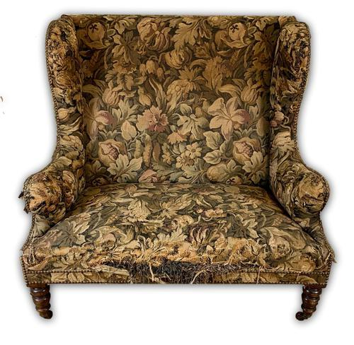 19th Century Two Seat Wingback Settee (1 of 8)