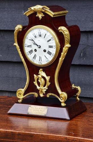 Late 19th Century Mahogany & Ormolu French Mantel Clock (1 of 7)