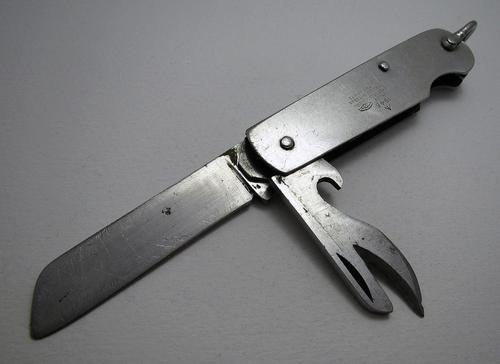 Sheffield Taylors Eye Witness British Army WWII 1945 Vintage Folding Jungle / Burma Jack Clasp Knife - Military Broad Arrow - World War 2 - Stainless Steel (1 of 8)