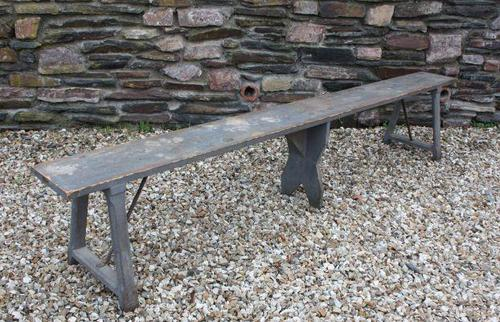 19th Century Painted Pine Bench (1 of 3)