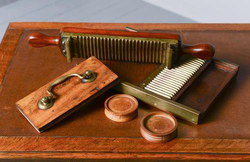 Victorian Mahogany & Brass Pill Maker (1 of 9)
