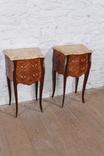 Very Nice Pair of Bow Front & Side Bedsides (1 of 10)