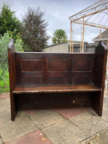 Antique Victorian Church Pew Bench Solid Oak (1 of 8)