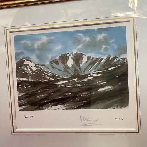 "HRH Prince Charles signed Limited Edition Artists Proof Print titled ""Lochnagar"" with fitted case and certificate of Authenticity (1 of 14)"