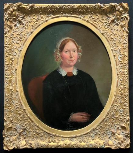 Fine Large Period 19th Century half-length Oil Portrait Painting of a Victorian Lady (1 of 12)