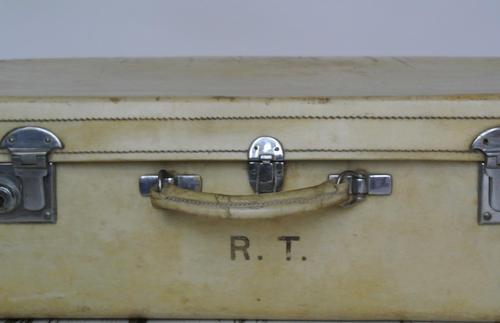 Vellum Suitcase 1920's to 1930's (1 of 9)