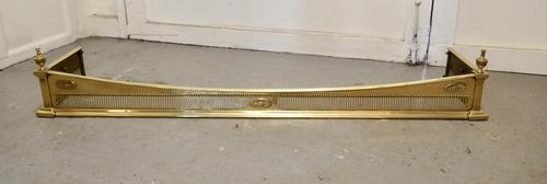 Superb Victorian Pierced Brass Fender (1 of 5)