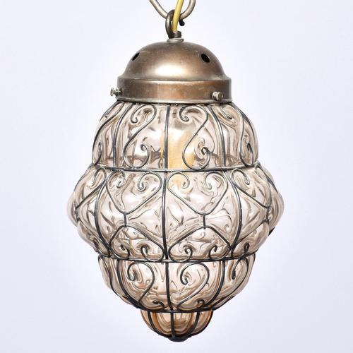 Set of 4 Murano-type Basket Light Fittings (1 of 10)