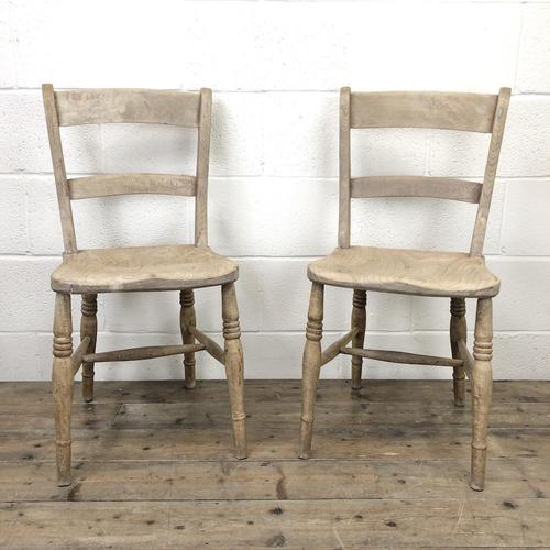 Pair of Antique Bar Back Farmhouse Kitchen Chairs (1 of 8)