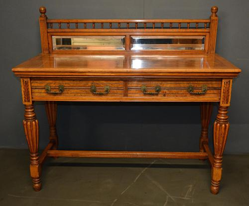Victorian Oak Hall Table (1 of 4)