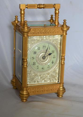 Strike Repeat Fretwork Carriage Clock (1 of 7)
