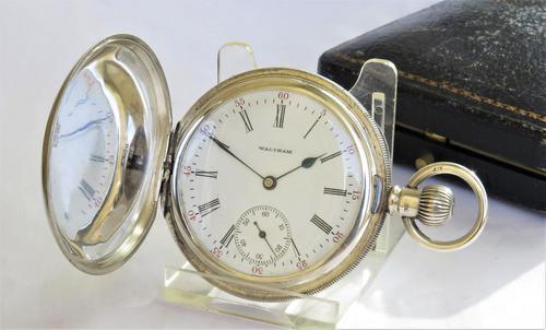 Antique Silver Waltham Full Hunter Pocket Watch (1 of 5)
