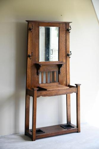 Early 20th Century Oak Hall Stand (1 of 12)