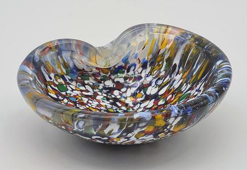 Vintage Murano Art Glass Bowl / Ashtray 1950s (1 of 3)