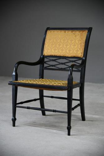 Victorian Ebonised Occasional Chair (1 of 9)