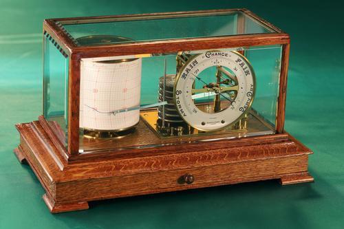 Drum Barograph & Barometer by Negretti & Zambra No 455 c.1918 (1 of 12)