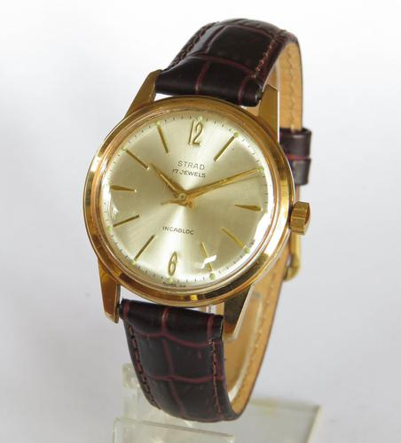 Gents 1960s Strad wrist watch in super condition (1 of 5)
